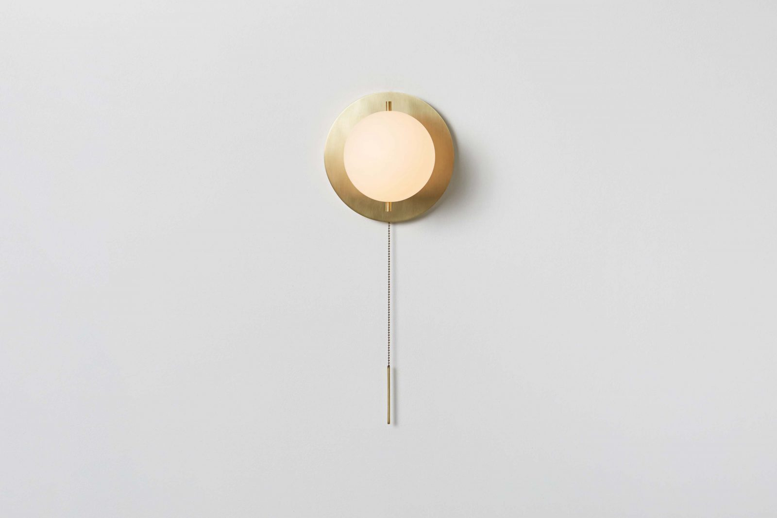 Signal Sconce_Hewn Brass_Front_On