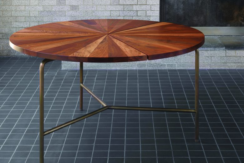 BassamFellows CB-35 Circular Dining Table in solid Santos Rosewood, credit NIKOLAS KOENIG