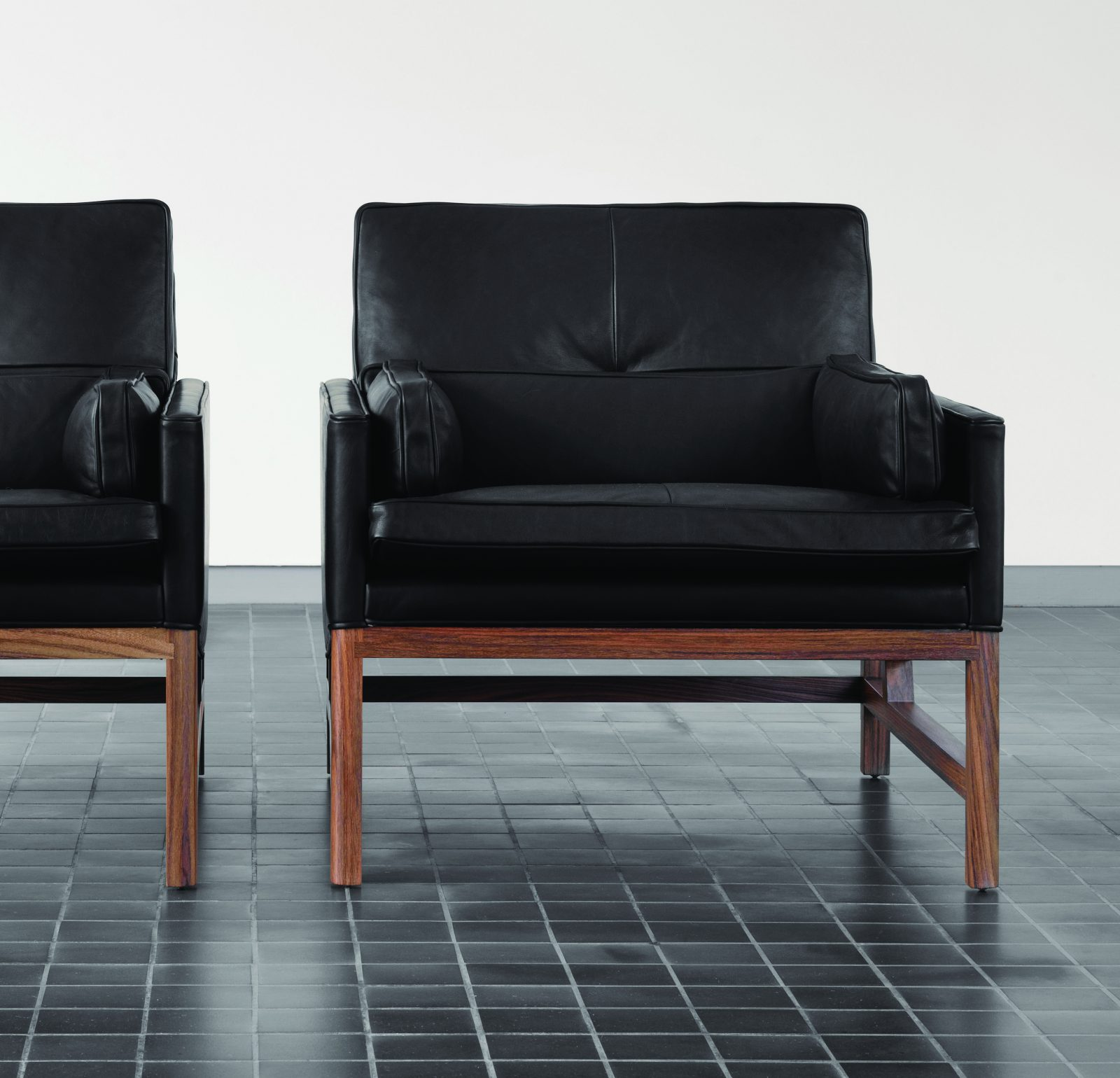 BassamFellows CB-50 Low Back Lounge Chairs with solid Santos Rosewood frame, credit NIKOLAS KOENIG