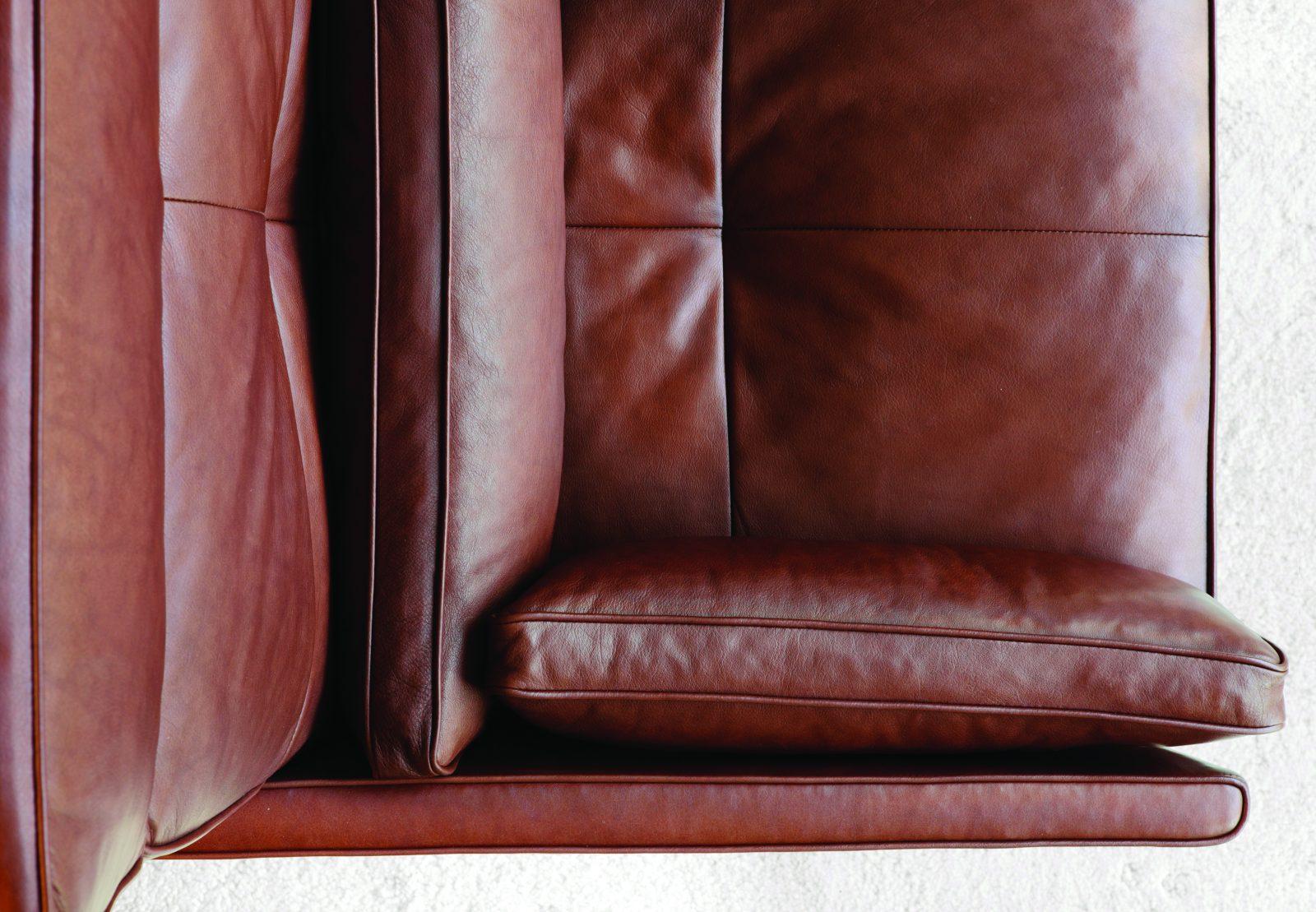 BassamFellows CB-510 High Back Lounge Chair detail, credit NIKOLAS KOENIG