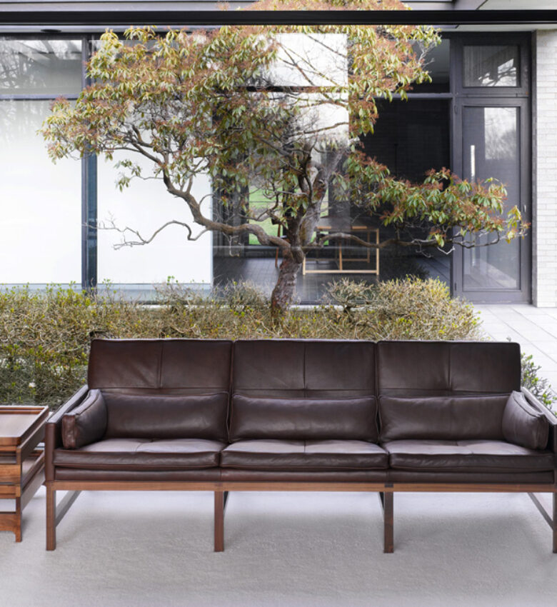 BassamFellows CB-53 Low Back Sofa with solid Walnut frame, credit NIKOLAS KOENIG