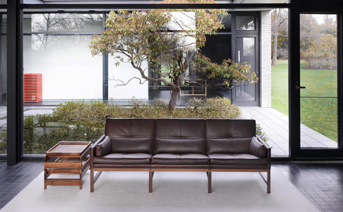 BassamFellows CB-53 Low Back Sofa with solid Walnut frame, credit NIKOLAS KOENIG