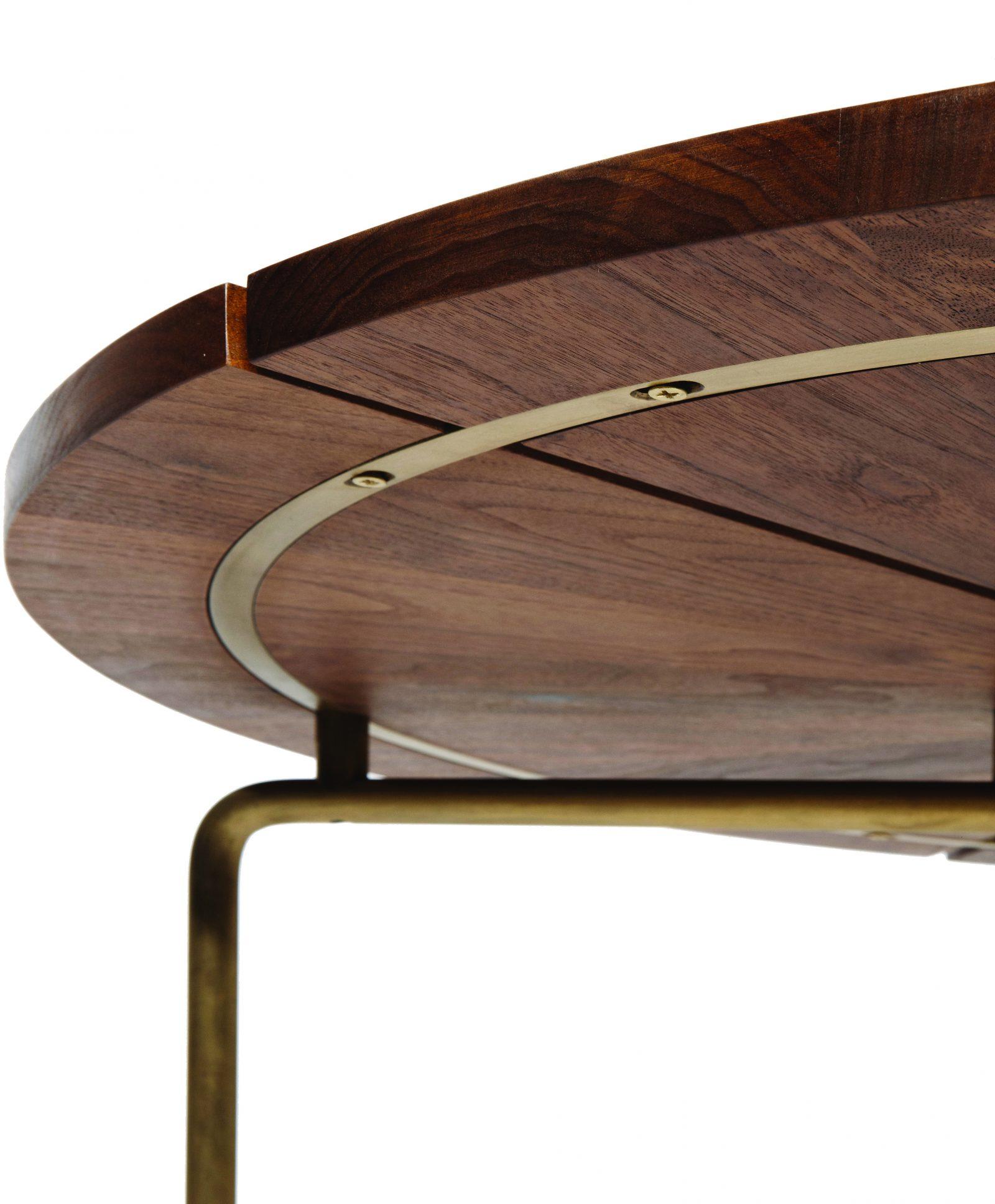 Circular Table detail of solid oxidized brass base, credit MATTEO MENDIOLA
